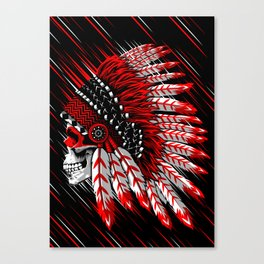 Skull Indian Canvas Print