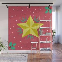 Estrella de navidad Wall Mural