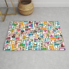 Tetris Monsters Rug