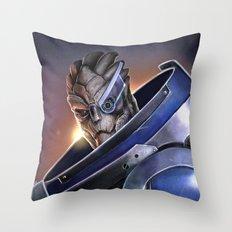 Garrus Vakarian Portrait - Mass Effect Throw Pillow