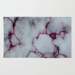 White with Maroon Marbling Rug