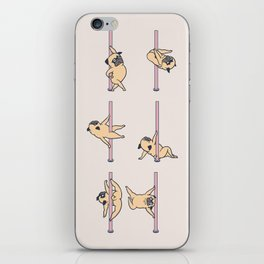 Pugs Pole Dancing Club iPhone Skin
