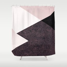 Geometrics III - pink granite & marble Shower Curtain