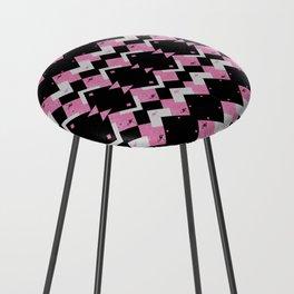 Pink Flamingos Art Deco Pattern Counter Stool