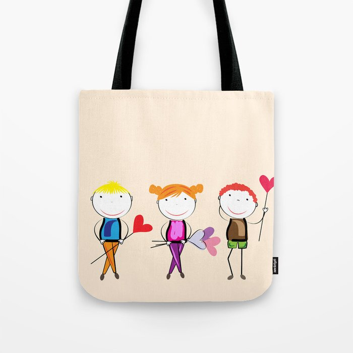 Children with hearts Tote Bag