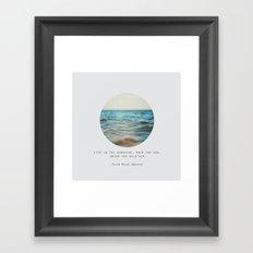 Swim The Sea Framed Art Print
