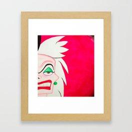 Cruella DeVille Framed Art Print