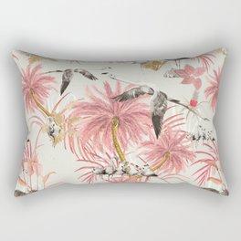 Tropical island of flamingos II Rectangular Pillow