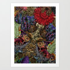 Psychedelic Botanical 11 Art Print