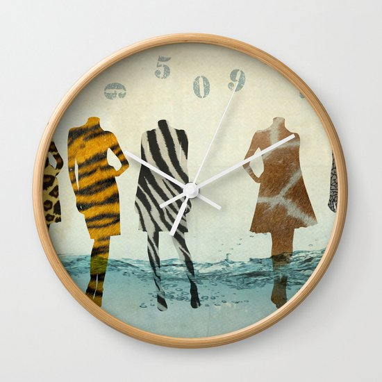 fashion line up Wall Clock