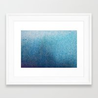 fabric Framed Art Prints featuring Fabric by Anna Berthier