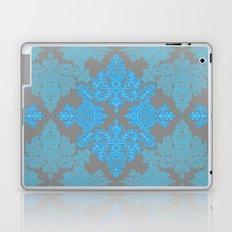 Turquoise Tangle - sky blue, aqua & grey pattern Laptop & iPad Skin
