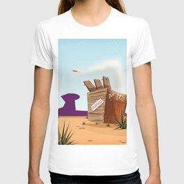 acme rocket crate T-shirt