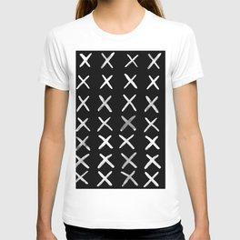Contemporary X Paint Cross stich Pattern T-shirt