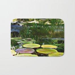 Greenery Pond Bath Mat