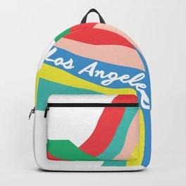 LOS ANGELES RAINBOW STRIPES Backpack