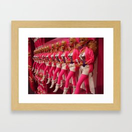 Kick Line Framed Art Print