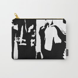Audrey Hepburn in movie Breakfast at Tiffany's. Black and white portrait, monochrome stencil art Carry-All Pouch