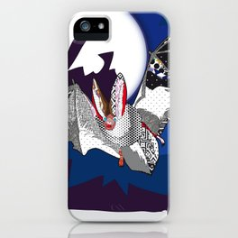 bat pattern iPhone Case