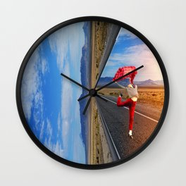 The theater of life Wall Clock
