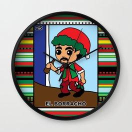 Christmas Loteria El Borracho Wall Clock