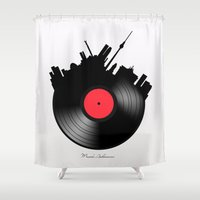 berlin Shower Curtains featuring Berlin  by mark ashkenazi