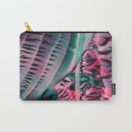 Teal Pink Abstract Carry-All Pouch