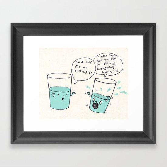another optimistic glass Framed Art Print