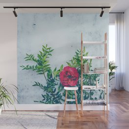 Colorful flowers watercolor painting #2 Wall Mural