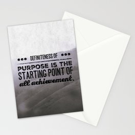 Definiteness of purpose is the starting point of all achievement Stationery Cards