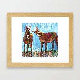 Donkeys Framed Art Print