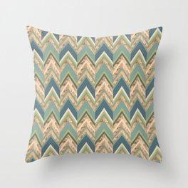 Happy Herringbone Throw Pillow