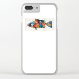 Colorful Grouper Art Fish by Sharon Cummings Clear iPhone Case