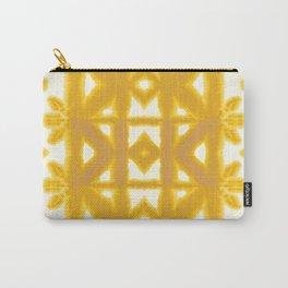 Yellow Pima Shibori Carry-All Pouch