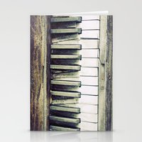 piano Stationery Cards featuring piano by hilde.