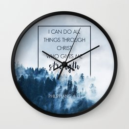 Forest Philippians 4:13 Wall Clock