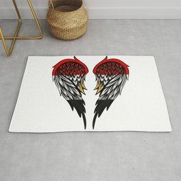 Egyptian wings art Rug