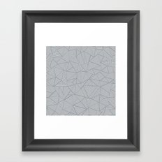Ab Linea Grey Framed Art Print