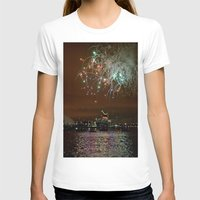 fireworks T-shirts featuring Fireworks by Christine Workman
