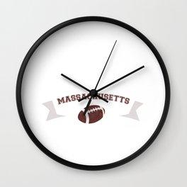 Just a Baller from Massachusetts Football Player Wall Clock