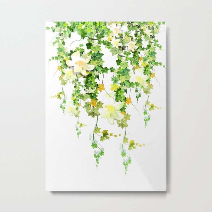 Watercolor Ivy Metal Print