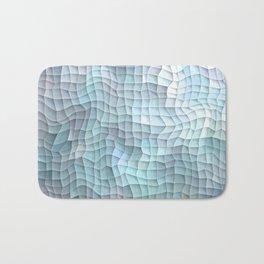 Blue Quilt Abstract Bath Mat