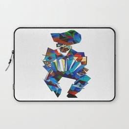 Accordion Player In Cubist Style Laptop Sleeve