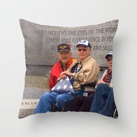 heroes Throw Pillows featuring Heroes by Anthony M. Davis