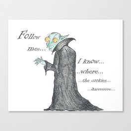 Follow Me, says the Vampire Canvas Print