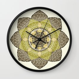Hena Flower Wall Clock