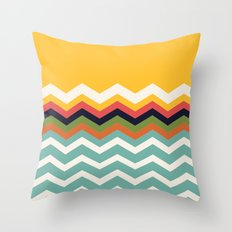Retro Chevrons Throw Pillow