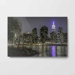Empire State, red white and blue Metal Print