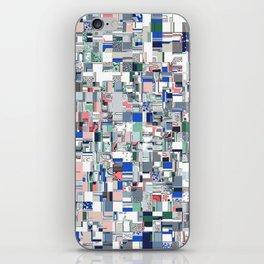 Geometric Grid of Colors iPhone Skin
