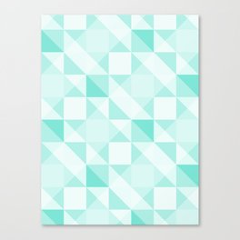 All Turquoise Triangle Pattern Canvas Print
